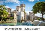 Small photo of Rocca Scaligera castle in Sirmione town near Garda Lake in Italy
