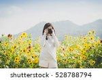 beautiful asian girl taking... | Shutterstock . vector #528788794