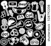 black and white fun set of... | Shutterstock .eps vector #528792208