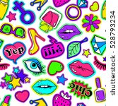 colorful fun seamless pattern... | Shutterstock .eps vector #528793234