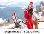 winter  leisure  sport and... | Shutterstock . vector #528794998
