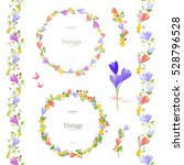 spring floral collection with... | Shutterstock .eps vector #528796528
