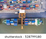 container container ship in... | Shutterstock . vector #528799180