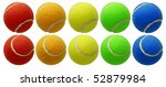 Tennis Balls Set Isolated On...