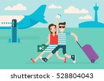 couple tourists traveling by... | Shutterstock .eps vector #528804043