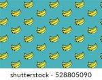 Bananas pattern blue background