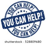 you can help. stamp. blue round ...   Shutterstock .eps vector #528809680