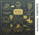 decorative vintage wine icons.... | Shutterstock .eps vector #528809878