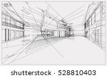 abstract 3d render of building... | Shutterstock .eps vector #528810403