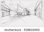 abstract 3d render of building... | Shutterstock .eps vector #528810403