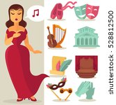 theater acting performance... | Shutterstock .eps vector #528812500
