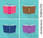 set of fiction genre icons.... | Shutterstock .eps vector #528816703