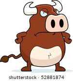 a cartoon bull with an angry... | Shutterstock .eps vector #52881874