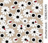 flower seamless pattern with... | Shutterstock . vector #528825490