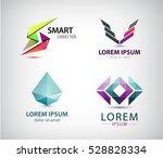 vector set of abstract logos ... | Shutterstock .eps vector #528828334