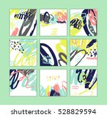 set of artistic creative cards... | Shutterstock .eps vector #528829594