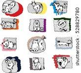 the twelve chinese zodiac .... | Shutterstock .eps vector #528829780