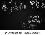 seasons greetings card with... | Shutterstock .eps vector #528830584