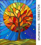 illustration in stained glass... | Shutterstock .eps vector #528831724