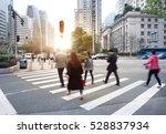 busy city people crowd on zebra ...   Shutterstock . vector #528837934