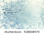 snow on a tree branches. winter ... | Shutterstock . vector #528838474