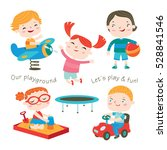 kids are playing at the... | Shutterstock .eps vector #528841546