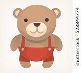 colorful teddy bear. birthday... | Shutterstock .eps vector #528844774
