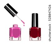 set of color nail polish. | Shutterstock .eps vector #528847426