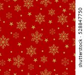 gold snowflakes and stars... | Shutterstock .eps vector #528847750