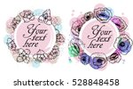 floral frame collection. set of ... | Shutterstock .eps vector #528848458