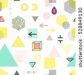 trendy geometric elements... | Shutterstock .eps vector #528849130