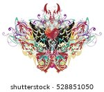 butterfly wings splashes.... | Shutterstock .eps vector #528851050