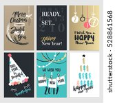 set of christmas and new year... | Shutterstock .eps vector #528861568