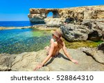 Happy Smiling Female Tourist I...