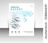 business annual report brochure ... | Shutterstock .eps vector #528864649
