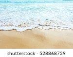 Wave Of Blue Sea On Sandy Beac...