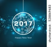 happy new year 2017 text design ... | Shutterstock .eps vector #528869683