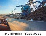 long conveyor belt transporting ...   Shutterstock . vector #528869818