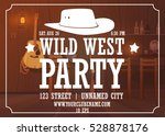 wild west party horizontal... | Shutterstock .eps vector #528878176