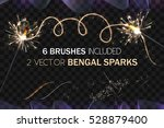 vector eps 10. glowing... | Shutterstock .eps vector #528879400