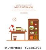 vector colorful office desk...   Shutterstock .eps vector #528881938
