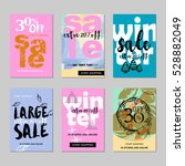 sale website banners design set.... | Shutterstock .eps vector #528882049