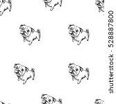 pug pattern | Shutterstock . vector #528887800