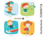 seasons child's outdoor... | Shutterstock .eps vector #528888718