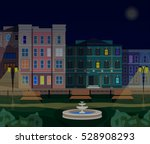 evening town street | Shutterstock .eps vector #528908293