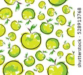 green sketch bright apple... | Shutterstock .eps vector #528913768