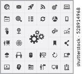 gears icon. digital marketing