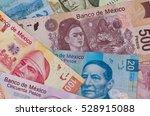 different mexican money bills... | Shutterstock . vector #528915088