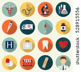 medical icons set. healthcare...   Shutterstock .eps vector #528915556