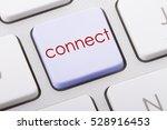 connect word written on... | Shutterstock . vector #528916453